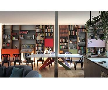 libreria rovere e lamiera